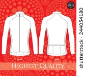 cycling jersey template. vector.   Shutterstock .eps vector #244054180