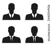 businessman vector icon set | Shutterstock .eps vector #244054906