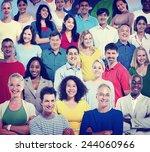 diversity people teamwork... | Shutterstock . vector #244060966