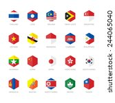 east asia and south east asia... | Shutterstock .eps vector #244065040