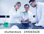 science students working... | Shutterstock . vector #244065628