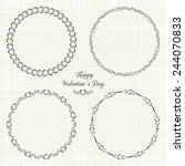 set of 4 circle cute frames for ... | Shutterstock .eps vector #244070833