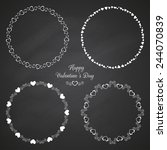 set of 4 circle cute frames for ... | Shutterstock .eps vector #244070839