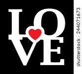 love happy valentines day | Shutterstock .eps vector #244071673