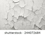 surface with old cracked paint | Shutterstock . vector #244072684