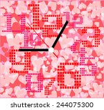 creative clock heart design on...