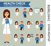 health check on the medical... | Shutterstock .eps vector #244078858