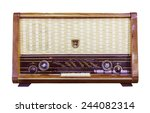 vintage radio isolated with... | Shutterstock . vector #244082314