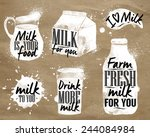 milk symbolic elements cafe ... | Shutterstock .eps vector #244084984