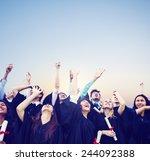 student celebration education... | Shutterstock . vector #244092388