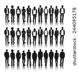 silhouettes of diverse people... | Shutterstock .eps vector #244095178
