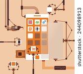 bitmap concept of mobile...   Shutterstock . vector #244098913