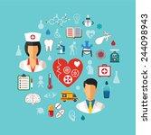 bitmap healthcare concept with... | Shutterstock . vector #244098943