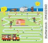game  railway | Shutterstock .eps vector #244102360