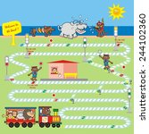 game  railway  vector icon | Shutterstock .eps vector #244102360