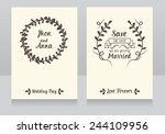 beautiful floral wedding... | Shutterstock .eps vector #244109956