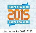 orange blue happy new year... | Shutterstock .eps vector #244113190