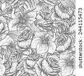 gentle spring monochrome... | Shutterstock .eps vector #244115473