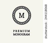 stylish  graceful monogram  ...   Shutterstock .eps vector #244118068