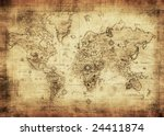 ancient map of the world | Shutterstock . vector #24411874