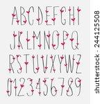 handwritten font  hand drawn... | Shutterstock .eps vector #244125508
