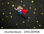 child super hero concept with... | Shutterstock . vector #244130908