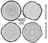 Set Of Four Vector Tree Rings...