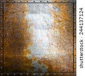 metal background   Shutterstock . vector #244137124