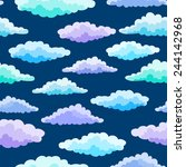 cartoon color clouds seamless... | Shutterstock .eps vector #244142968