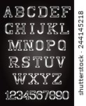 set of letters and numbers in... | Shutterstock .eps vector #244145218