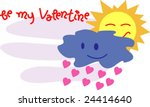 to be my valentine 23 | Shutterstock .eps vector #24414640