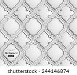 seamless pattern of 3d grescale ... | Shutterstock .eps vector #244146874