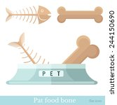 flat pet food bone with pet... | Shutterstock .eps vector #244150690
