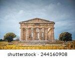 splendid ancient greek columns... | Shutterstock . vector #244160908