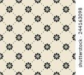 minimalistic vintage floral...   Shutterstock .eps vector #244163098
