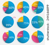 infographics   colorful pie... | Shutterstock .eps vector #244166899
