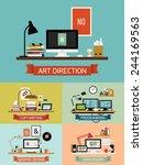 vector modern flat design on... | Shutterstock .eps vector #244169563