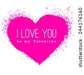 vector spray stains. valentines ...   Shutterstock .eps vector #244176160