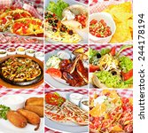 mexican food collage including... | Shutterstock . vector #244178194