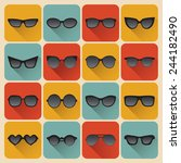big vector set of icons of... | Shutterstock .eps vector #244182490