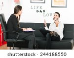 female psychologist consulting... | Shutterstock . vector #244188550
