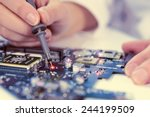 technological background with... | Shutterstock . vector #244199509