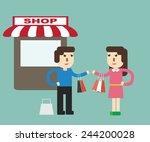 customer behavior   shopping | Shutterstock .eps vector #244200028