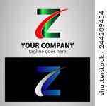 letter z logo symbol design... | Shutterstock .eps vector #244209454