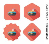 transportation ferry flat icon... | Shutterstock .eps vector #244217590