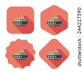transportation ferry flat icon... | Shutterstock .eps vector #244217590