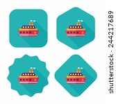 transportation ferry flat icon... | Shutterstock .eps vector #244217689