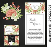 wedding invitation cards with... | Shutterstock .eps vector #244221703