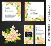 wedding invitation cards with... | Shutterstock .eps vector #244221724