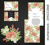 wedding invitation cards with... | Shutterstock .eps vector #244221868
